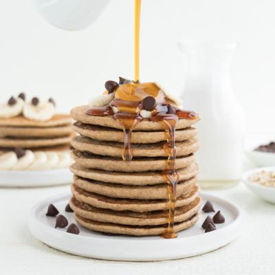 Chocolate Chip Banana Pancakes (Vegan & Gluten-Free)