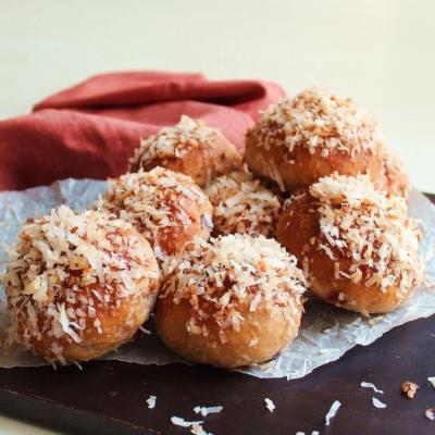 Coconut Cherry Breakfast Buns