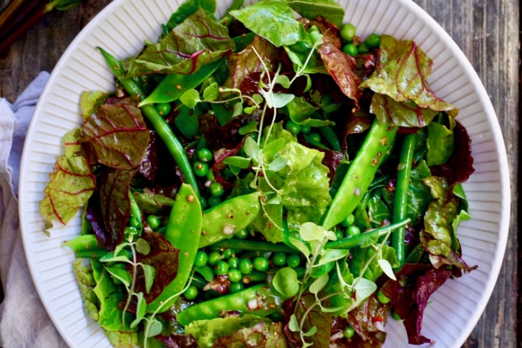Chard and Green Bean Salad with Mustard Seeds