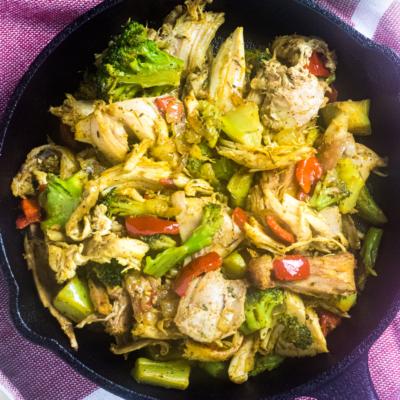 Leftover Turkey Stir Fry