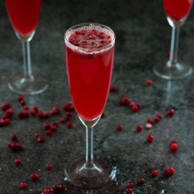 Non-alcoholic Cranberry Ginger Ale Punch