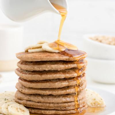 Banana Bread Pancakes (Vegan & Gluten-Free)