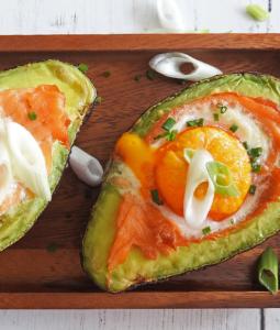Egg & Smoked Salmon Avocado Boats