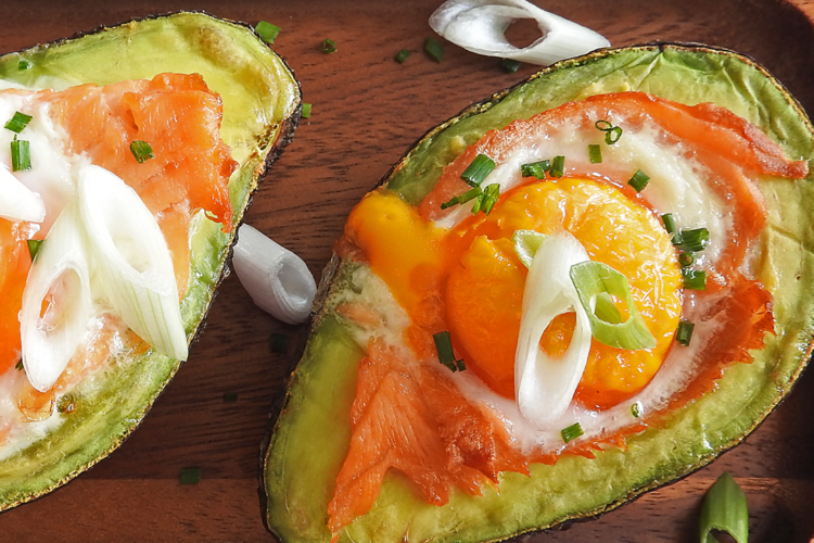 Egg & Smoked Salmon Avocado Boats