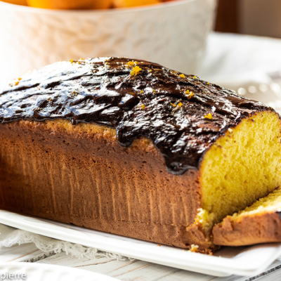 Orange Cake with Chocolate Ganache