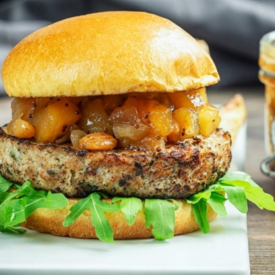 Herby Pork and Apple Burgers