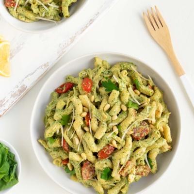 Vegan Pesto Cavatappi