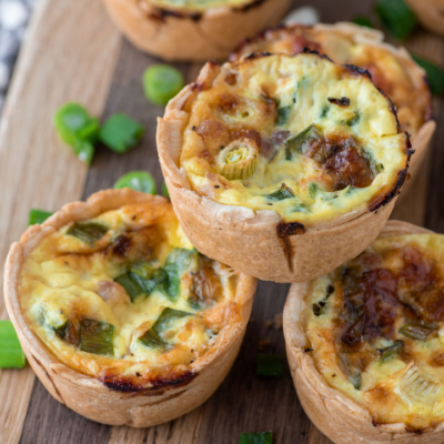 Mini Ham Cheese and Onion Quiche
