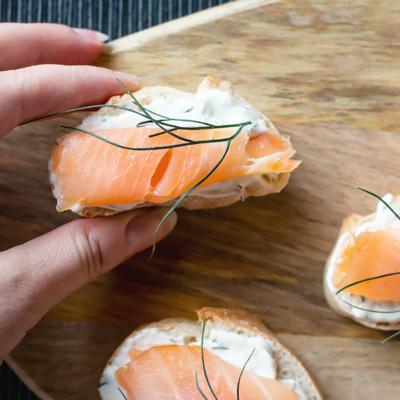 Smoked Salmon Appetizer Bites