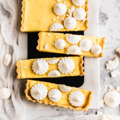 Healthy Gluten Free Lemon Tart