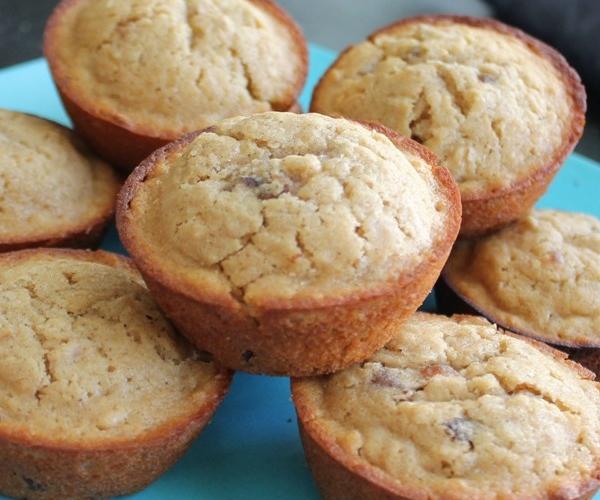 Honey Date Oatmeal Muffins