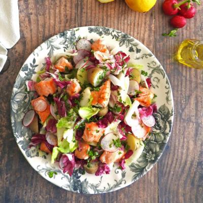 Honey Glazed Salmon & Endive Salad