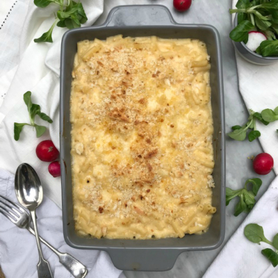 Macaroni Cheese with Caramelised Onions