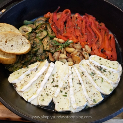 Roasted Veggies with Brie