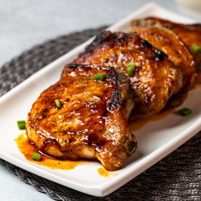 Honey Sriracha Pork Chops
