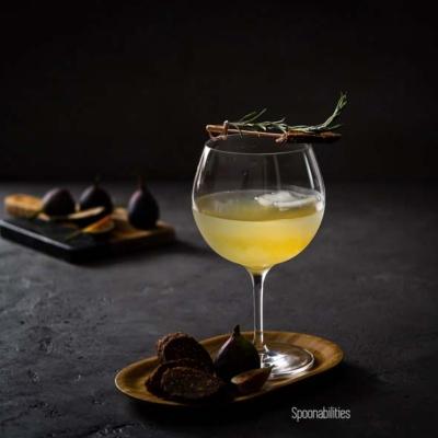 Bloomsbury Garden Cocktail | Rosemary Gin, Elderflower & Fig Tonic