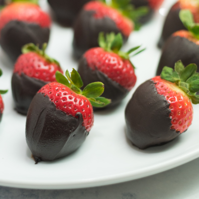 Easy Dark-Chocolate Covered Strawberries