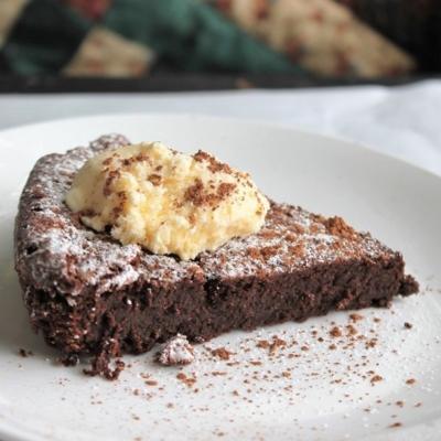Flourless Chocolate-Chili Cake