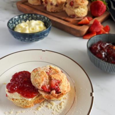 Strawberry English Scones