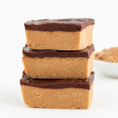 No Bake Chocolate Peanut Butter Bars (Vegan, Gluten-Free)