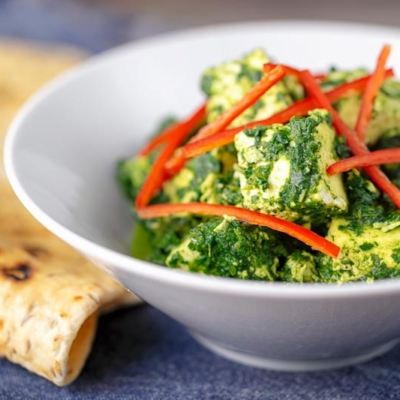 Indian Palak Paneer Curry
