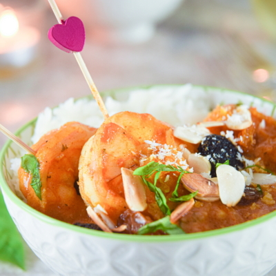 Valentine's Day Electric Skillet Shrimp Curry