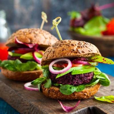 Vegan BBQ Beet Burger