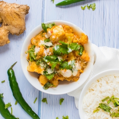 Fabulous Creamy Cauliflower Paneer Curry