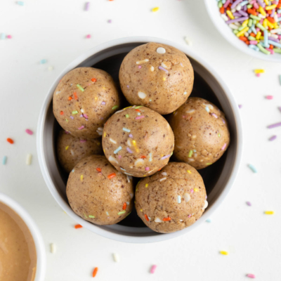 No Bake Birthday Cake Energy Balls