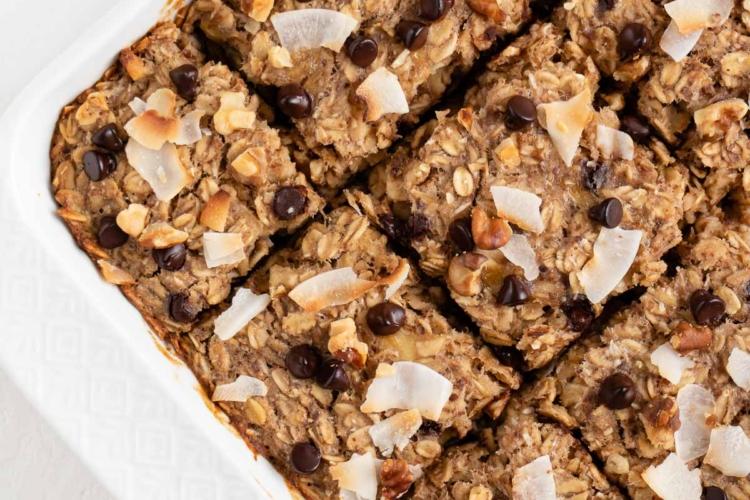 Chunky Monkey Baked Oatmeal (Vegan & Gluten-Free)
