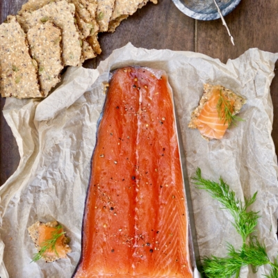 "Scandinavian Style Cured Salmon ""Gravlax"""