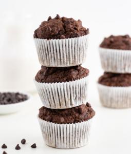 Double Chocolate Banana Muffins (Vegan & Gluten-Free)
