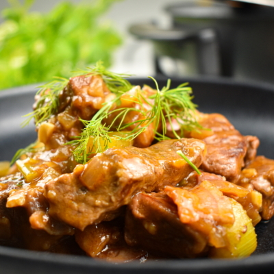 Skillet Beef & Black Beer Stew
