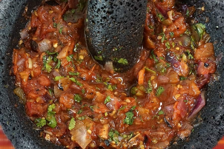Mexican Molcajete Roasted Salsa
