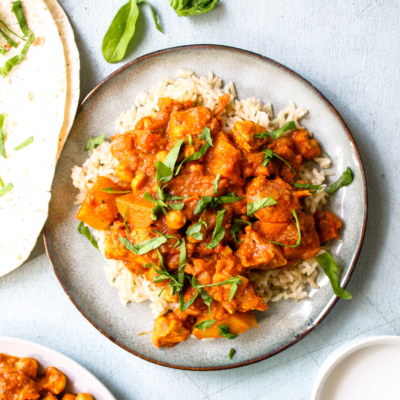 Chicken Chickpea Coconut Curry