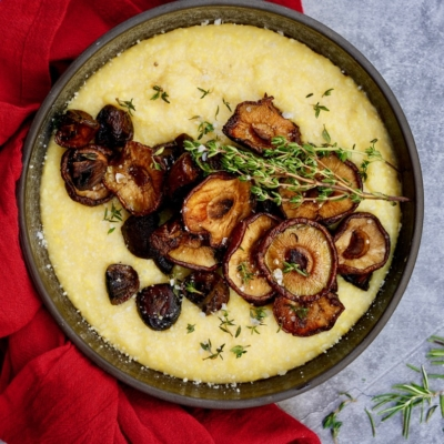 Oven Baked Polenta With Wild Mushrooms