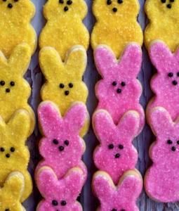 Shortbread Peep Cookies