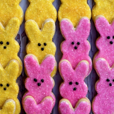 Shortbread Peep Cookies