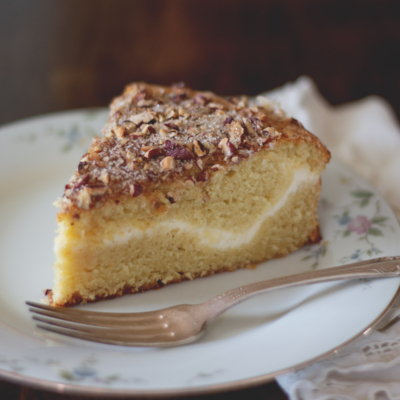 Sour Cream Coffee Cake with Cream Cheese Filling