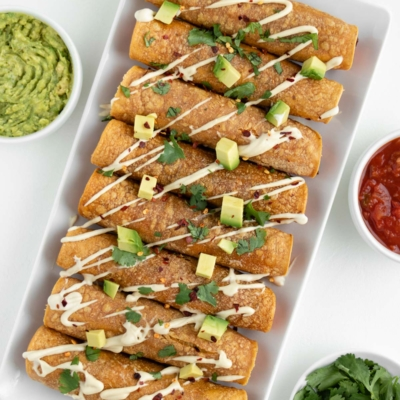 Sweet Potato Black Bean Taquitos