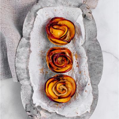 Mini Peach Rose Tarts