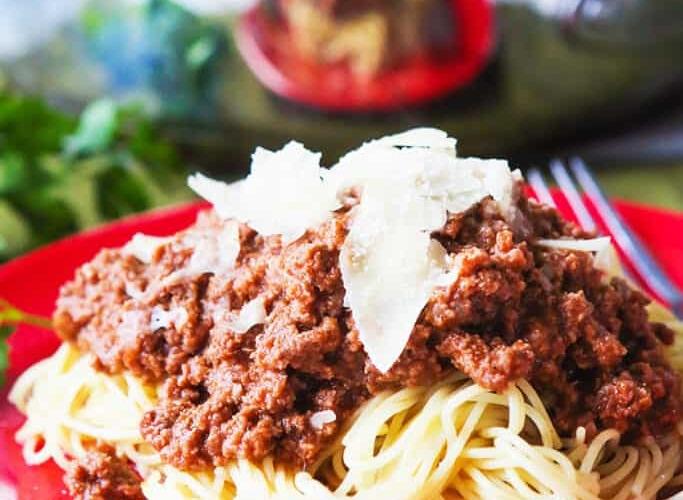 Spaghetti Sauce Made Using Tomato Sauce