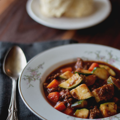 Healthy Zucchini and Beef Soup