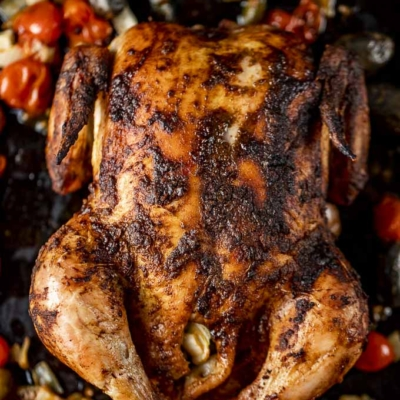 Whole Roasted Moroccan Chicken