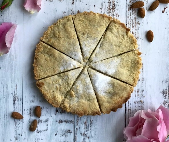 Almond Shortbread with Rosewater