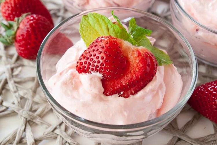 Berries and Cream Jello Salad
