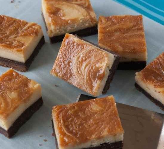 Caramel Swirl Cheesecake Brownies