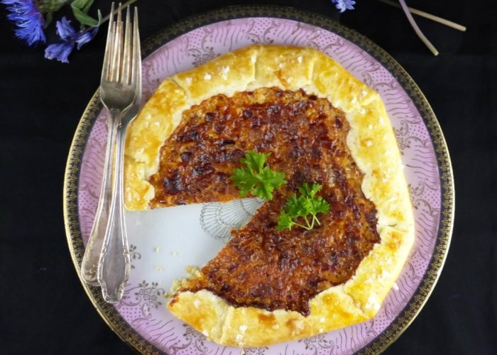 Cheese and Red Onion Spelt Galette