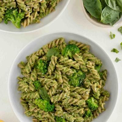 Broccoli Pesto Pasta (Vegan & GF)