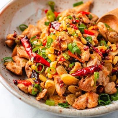 Kung Pao Chicken (Gluten-free, Keto, Paleo)